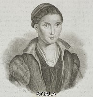 ******** Portrait of Sofonisba Anguissola (1532-1625), Italian painter, engraving from L'album, giornale letterario e di belle arti, December 3, 1843, Year 10.