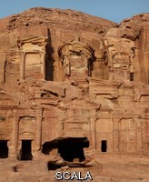 ******** Corinthian tomb, one of the Royal tombs, 1st century AD, Petra, Ma'an, Jordan. These tombs were carved by the Nabateans for their Kings in the face of Jabal al-Khubtha, the mountain overlooking Petra on the East. Petra was the capital and royal city of the Nabateans, Arabic desert nomads. Picture by Manuel Cohen