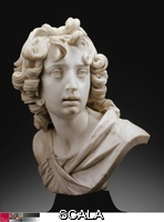 Mochi, Francesco (1580-1654) Bust of a Youth (Saint John the Baptist), 1630/40. Marble, on variegated black marble socle, 40.5 x 33 x 29 cm (15 7/8 x 13 x 11 3/8 in.). From the collection of the estate of Federico Gentili di Giuseppe; restricted gift of Mrs. Harold T. Martin through the Antiquarian Society; Major Acquisitions Centennial Endowment; through prior gift of Arthur Rubloff; European Decorative Arts Purchase Fund, 1989.1.