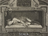 ******** Statue of St Cecilia, by Stefano Maderno, high altar in the Basilica of St Cecilia in Trastevere, Rome, Italy, drawing by J Petot from Rome, 1864-1868, by Francesco Wey (1812-1882), from Il Giro del mondo (World Tour), Journal of geography, travel and costumes, Volume IV, Issue 23, June 9, 1870.