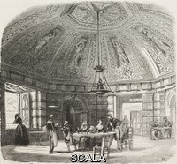 ******** Rocaille room with sculptures attributed to Jean Goujon, Henry IV pavilion, Saint-Germain-en-Laye, France, illustration from L'Illustration, Journal Universel, No 23, Volume 1, August 5, 1843.