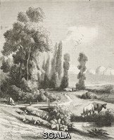 ******** Chevreuse valley, engraving from a painting by Constant Troyon (1810-1865), illustration from L'Illustration, Journal Universel, No 169, Volume VII, May 25, 1846.