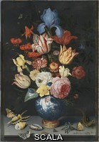 Ast, Balthasar van der (1590-1656) Chinese Vase with Flowers, Shells and Insects, 1628