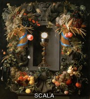 Heem, Jan Davidsz de (1606-1684) Eucharist in Fruit Wreath
