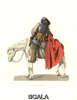 ******** French cavalry in the reign of Louis XIII, 17th century. . French cavalry in the reign of Louis XIII, 17th century. From a painting by Sebastien Bourdon. Handcolored illustration by E. Lechevallier-Chevignard, lithographed by A. Didier, L. Flameng, F. Lag