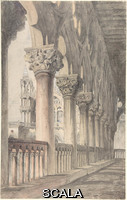 Ruskin, John (1819-1900) Loggia of the Ducal Palace, Venice. 1849-50. Watercolor over graphite. Sheet: 18 1/8 × 11 7/16 in. (46 × 29 cm). Rogers Fund, 1908 (08.227.39).