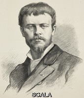 ******** Portrait of Jules Bastien-Lepage (1848-1884), French painter, after a photo by Tourtin, illustration from L'Illustration, Journal Universel, No 2182, Volume LXXXIV, December 20, 1884.