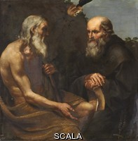 Sacchi, Andrea (c. 1599-1661) Saint Paul the First Hermit and Saint Anthony, 1630-40. Oil on canvas, 141 x 141 cm. INV.: P00328
