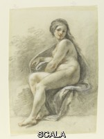 Zuccarelli, Francesco (1702-1788) Seated female nude, 1702-1788