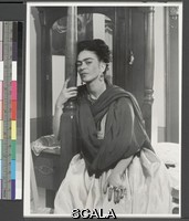 Alvarez Bravo, Lola (1907-1993) Frida Kahlo. ca. 1945. [hand on bedpost, leaning forward with her forehead against the post]. Gelatin silver print. Overall, Primary Support: 9 15/16 x 7 1/4 in. (25.3 x 18.4 cm) Image: 9 7/16 x 6 3/4 in. (23.9 x 17.1 cm). Lola Alvarez Bravo Archive. Inv. N.: 95.29.1