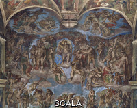 Michelangelo (Buonarroti, Michelangelo 1475-1564) Last Judgment: upper part [before restoration]