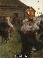 Zorn, Anders (1860-1920) Midsommardans (Midsummer Dance), 1897. Oil on canvas. Height: 140 x 98 cm (55.11 x 38.58 in)