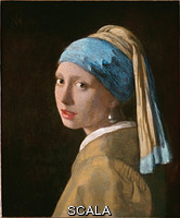 Vermeer, Jan (1632-1675) Head of a Young Girl (Girl with a pearl earring), c. 1665