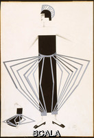 Exter, Alexandra (1882-1949) Costume design for a female character in Aelita: Queen of Mars. 1924