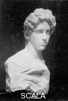 Klinger, Max (1857-1920) Girl with hand bust, marble
