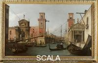 Canaletto (Canal, Giovanni Antonio 1697-1768) The Ponte sull'Arsenale