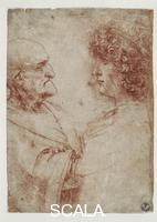Leonardo da Vinci (1452-1519) Two heads no. 423