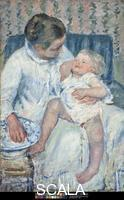 Cassatt, Mary (1844-1926) Mother About to Wash Her Sleepy Child, 1880