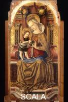 Crivelli, Carlo (1435/40-c. 1493) Madonna and Child Enthroned