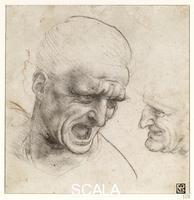 Leonardo da Vinci (1452-1519) Study of Two Warriors' Heads, c. 1505