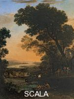 Lorrain, Claude (1600-1682) Pastoral Landscape with the Flight into Egypt, 1663