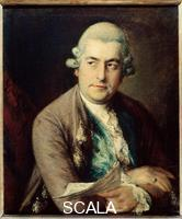 Gainsborough, Thomas (1727-1788) Portrait of Johann Christian Bach