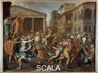 Poussin, Nicolas (1594-1665) Rape of the Sabine Women, 1637-38