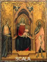 Nuzi, Allegretto (1320-1373) Madonna and Child with Saints Catherine and John the Baptist
