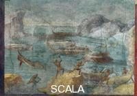 Roman art The laestrygonians Attacking Ulysses's Ships, 40-30 b.C.