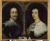 Dyck, Anthony van (1599-1641) Portrait of Charles I of England and Henrietta of France