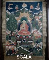 Tibetan art Buddha and scenes from his life, 19th cent.