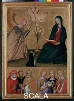 Memmi, Lippo (c. 1285-c. 1361) Annunciation and Six Half-length figure Saints