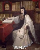 ******** Portrait of Sister Juana Ines of De La Cruz (1651-1695) by Miguel Cabrera. Mexico, 17th century.