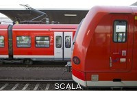 ******** Local Deutsche Bahn trains at a station. Heidelberg, Germany.