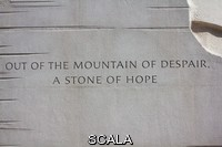 ******** An inscription on the base of the statue of Dr. Martin Luther King, Jr. Martin Luther King Jr. National Memorial, Washington, District of Columbia.