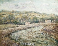 ******** Lawson, Ernest (1873-1939). New England Hills. Ernest Lawson (1873-1939). Oil on canvas.