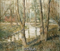 ******** Lawson, Ernest (1873-1939). Silver Spring. Ernest Lawson (1873-1939). Oil on canvas.