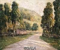 ******** Lawson, Ernest (1873-1939). The Country Road. Ernst Lawson (1873-1939). Oil on canvas laid down on board.