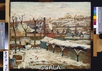 ******** Lawson, Ernest (1873-1939). Harlem Winter. Ernest Lawson (1873-1939). Oil on board.