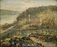 ******** Lawson, Ernest (1873-1939). The Hudson at Inwood. Ernest Lawson (1873-1939). Oil on canvas laid down on panel.