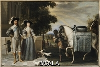 ******** Mytens, Daniel (c.1590-a.1648) (after). King Charles I and Queen Henrietta Maria Departing for the Chase. After Daniel Mytens (c.1590-a.1648). Oil on canvas. 87.7 x 135.9cm. A reduced copy with some changes, after the Mytens in the Royal Collection.