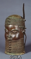 ******** Nigerian School, (18th century). A rare Owo bronze memorial head. Late 18th century.