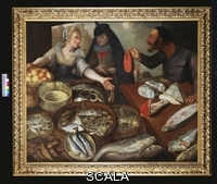 ******** Valckenborch, (c.1535-97) & Flegal (1566-1638) (circle of). A Fish Stall. Circle of Lucas van Valckenborch (c.1535-1597) and Georg Flegel (1535-1597). Oil on canvas, 127 x 152.4cm.