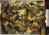 ******** Gleizes, Albert (1881-1953). Landscape at Meudon; Paysage a Meudon. Albert Gleizes (1881-1953). Oil on canvas. Painted in 1911.