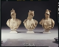 ******** Flemish School, (18th century). A set of three terracotta busts of gods and goddesses. Flemish, 18th century.