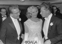 ******** OPernball. Fashiondsigner Fred Adlmueller with Eliette and Herbert von Karajan at the Vienna Opera Ball. Vienna State Opera. 1959. Photograph by Franz Votava