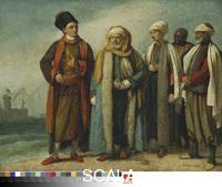 West, Benjamin (1738-1820) The Ambassador from Tunis with His Attendants as He Appeared in England in 1781, 1781