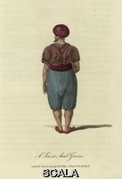 ******** A Seis or Arab Groom. A Seis or Arab Groom, seen from the rear. He is wearing a red turban and baggy knee-length trousers.. Travels in Turkey, Asia-Minor, Syria, and across the desert into Egypt by William Wittman d. 1815.1803