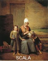 Jacomin, Jean Marie (1789-1858) The Poor Mother