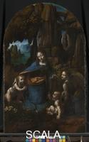 Leonardo da Vinci (1452-1519) The Virgin of the Rocks (The Virgin with the Infant Saint John adoring the Infant Christ accompanied by an Angel), part of Panels from the S. Francesco Altarpiece, about 1491 - 1508